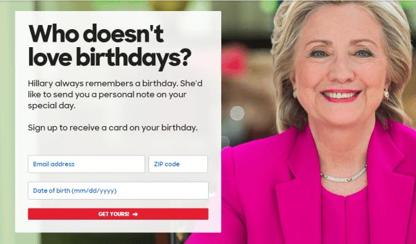 Hillary Clinton's Email Marketing