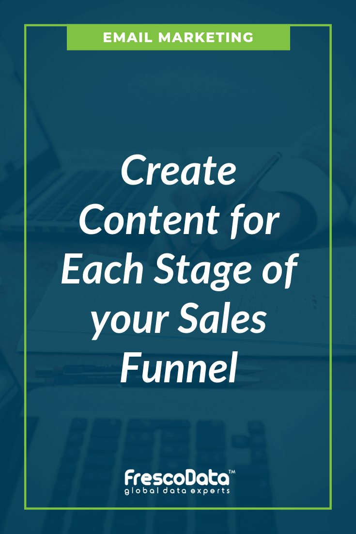 content for each stage of sales funnel