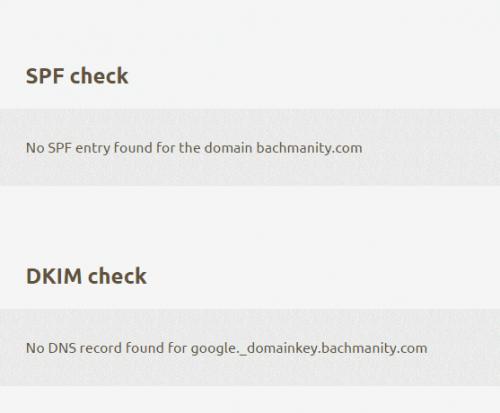 incorrect spf and dkim check