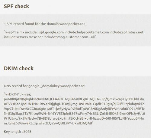correct spf and dkim check