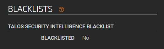 talos blacklists